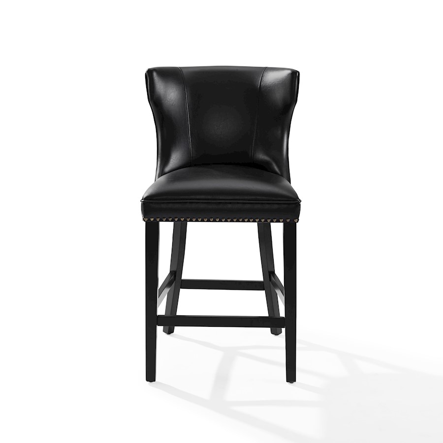 Crosley Tilson Counter Stool Black With Black Cushion