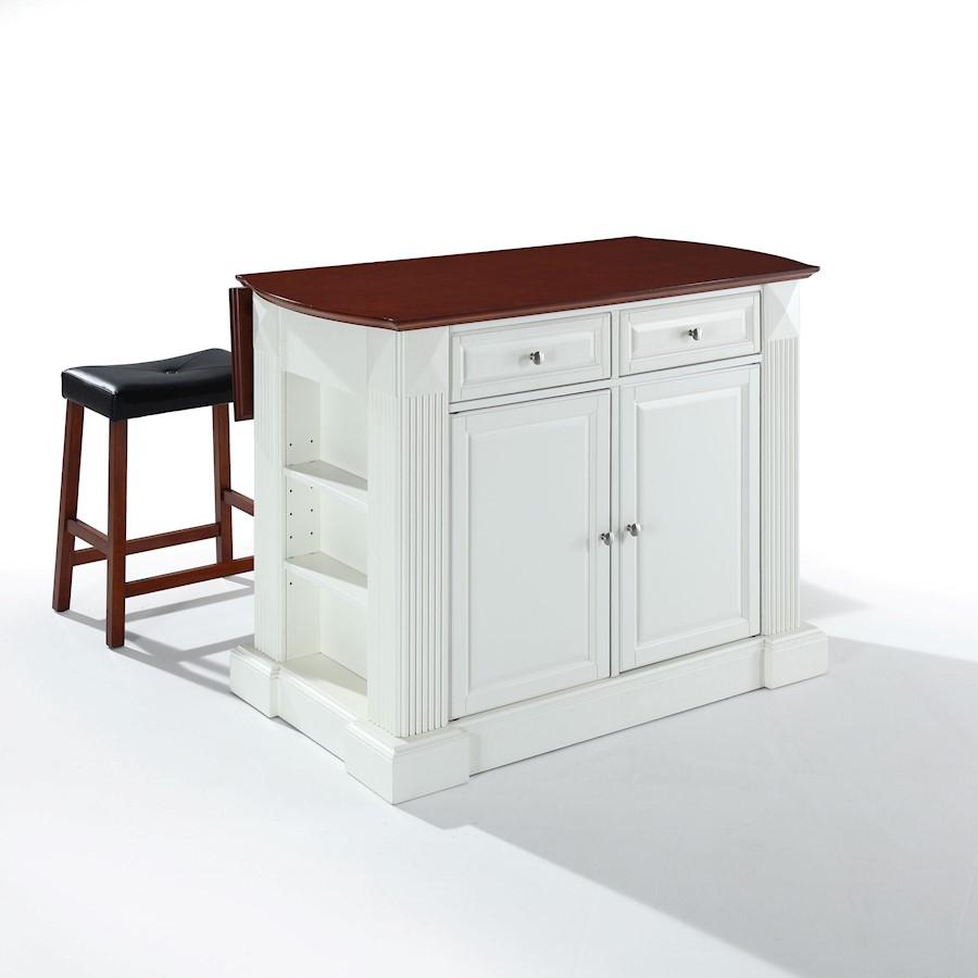Image is loading crosley coventry drop leaf kitchen island white 24