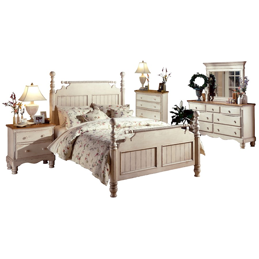 Image Is Loading Hillsdale Wilshire 5 Pc Bedroom Set Queen Antique
