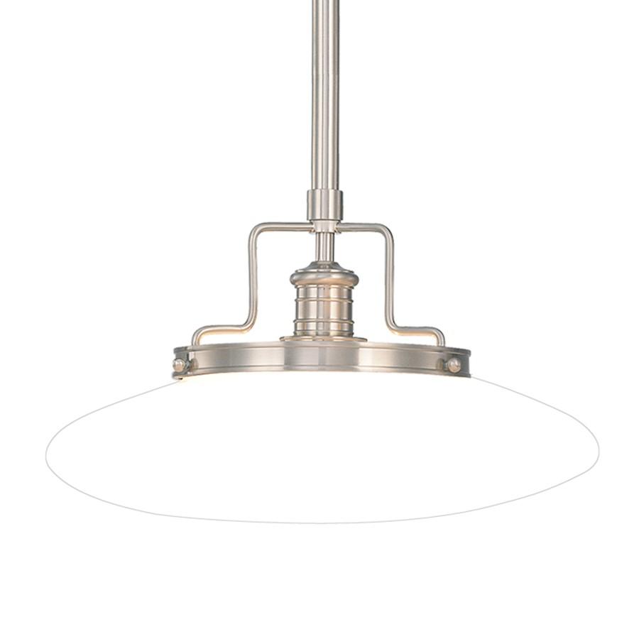 hudson valley beacon 1 light pendant in satin nickel 4222 sn - Hudson Valley Lighting