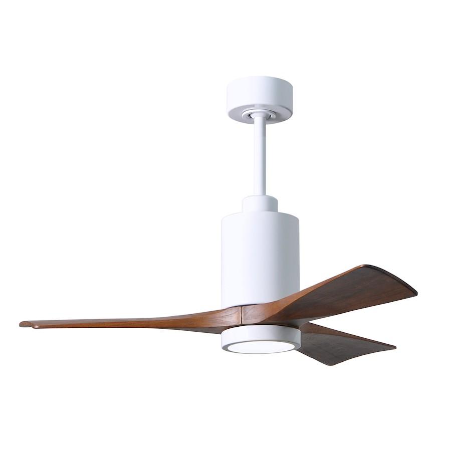 """Matthews Fan Patricia 3-Bld 42"""" Paddle Fan w/Light, White/Wa"""