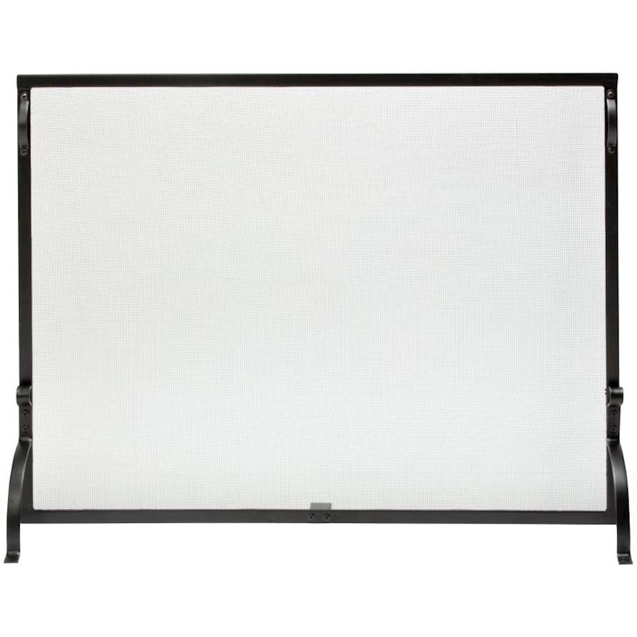 Uniflame solo panel negro de hierro forjado SPARKGUARD-Grande-S-1028