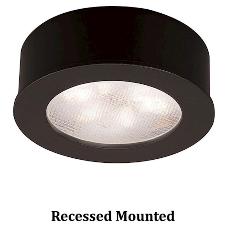 Luz Led rojoonda WAC Lighting botón 2700K blancoo cálido, Negro-HR-LED87-BK